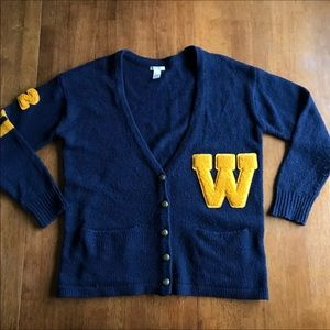 W Letterman Sweater